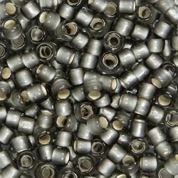 Тохо мъниста 3мм заскрежено сиво със сребърен кант (10г)