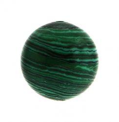 Полускъпоценни камъни - Кръгло мънисто от зелен малахит 8мм (10бр)