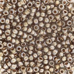 Тохо мъниста 2мм черен диамант със златен кант (10г)