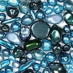 Перлен микс - гама аквамарин и циан (20г)