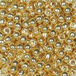 Тохо мъниста 3мм галванизирано злато (10г)