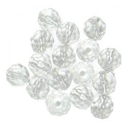 Клас А+ - кръгло фасетирано мънисто от планински кристал 4мм (16бр)