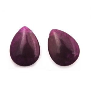 Полускъпоценни камъни - капки от ахат пурпур 15х20мм (2бр)