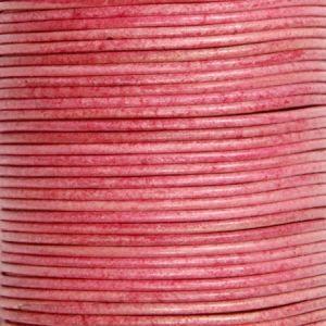 Кожен шнур във винтидж стил - пепел от рози 1,5мм ( 1м)